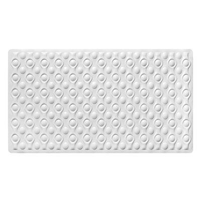 Marci Rubber Bath Mat Color: White
