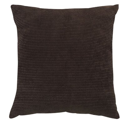 Meadow Polyester Throw Pillow Color: Chocolate