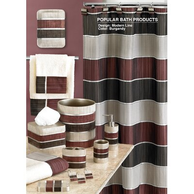 Modern Line Shower Curtain Color: Burgundy