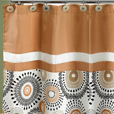 Suzannie Shower Curtain Color: Gold