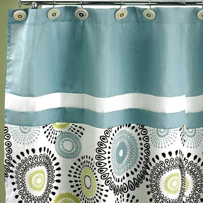 Suzannie Shower Curtain Color: Aqua
