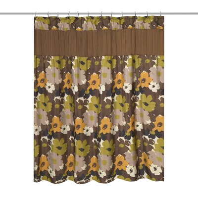 Floral Bouquet Shower Curtain Color: Chocolate