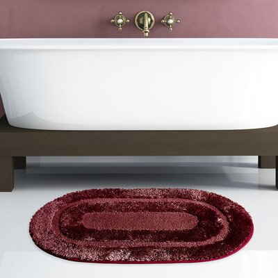 Pearl Bath Rug Color: Burgundy