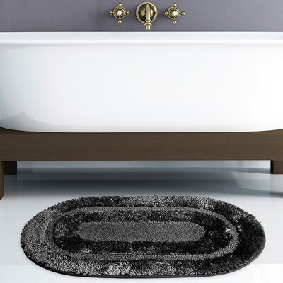 Pearl Bath Rug Color: Black