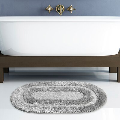 Pearl Bath Rug Color: Silver