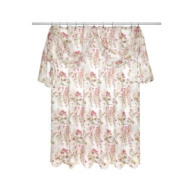 Secret Garden Shower Curtain with Valance