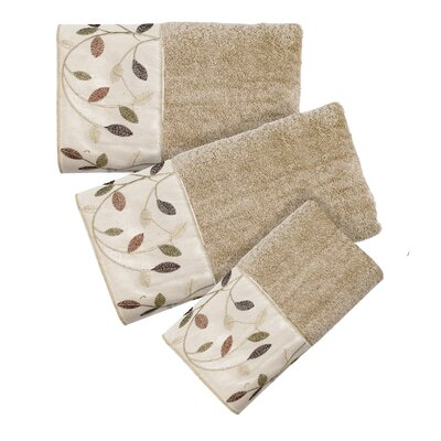 Aubury 3 Piece Towel Set Color: Beige