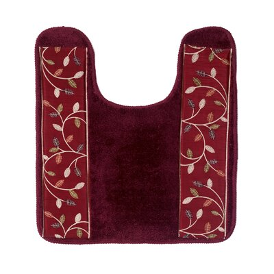 Aubury Bath Contour Mat Color: Burgundy