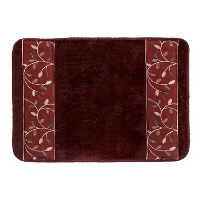 Aubury Bath Rug Color: Burgundy