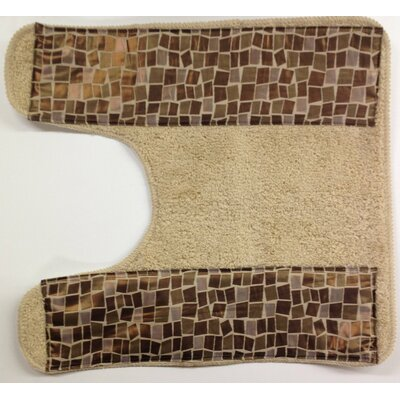 Mosaic Stone Bath Contour Rug