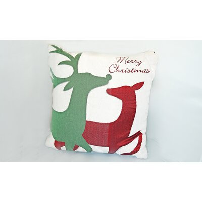 Christmas Reindeer Throw Pillow