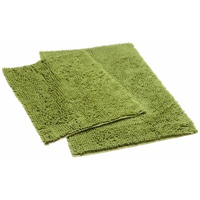Aldante Chenille 2 Piece Rug Set Color: Sage