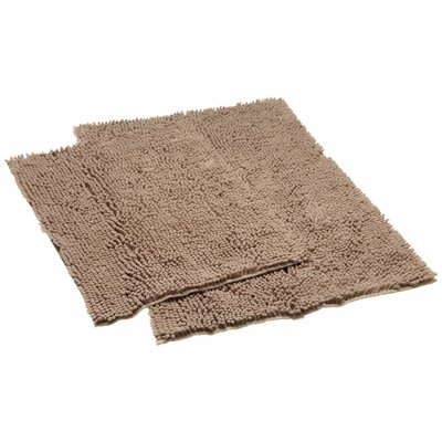 Aldante Chenille 2 Piece Rug Set Color: Taupe