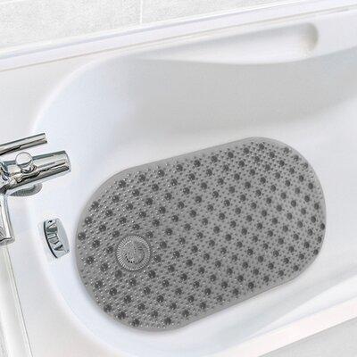 Hair Catcher Tub Mat Color: Grey
