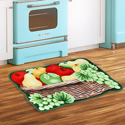 Fruit Basket Brown/Green/Red Area Rug