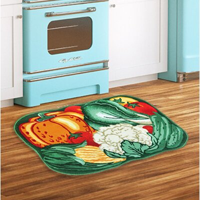 Veggie Bunch Green/Orange/Red Area Rug