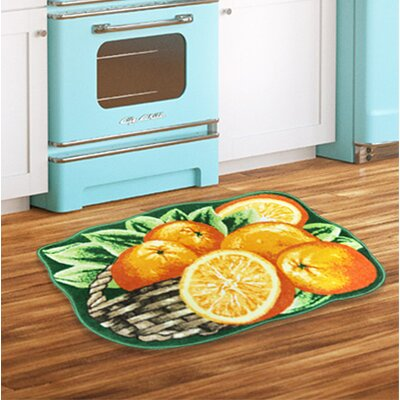 Fest Orange Kitchen Mat
