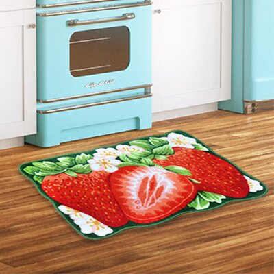 Strawberry Red Area Rug