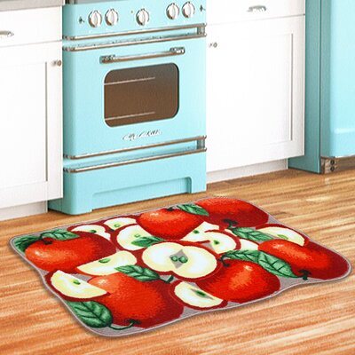 Apple Slice Kitchen Red/Green Area Rug