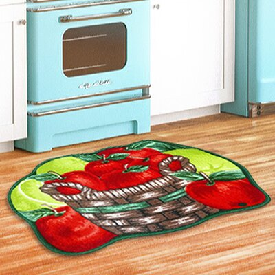 Apple Basket Kitchen Red/Green Area Rug