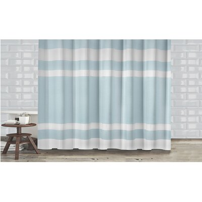 New England Shower Curtain Color: Blue