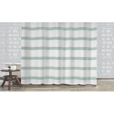 Mulberry Shower Curtain Color: Mint