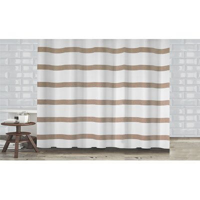 Mulberry Shower Curtain Color: Taupe