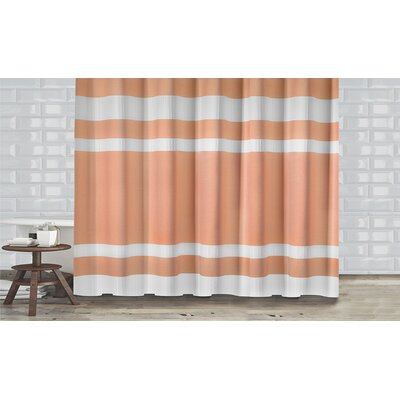 New England Shower Curtain Color: Coral