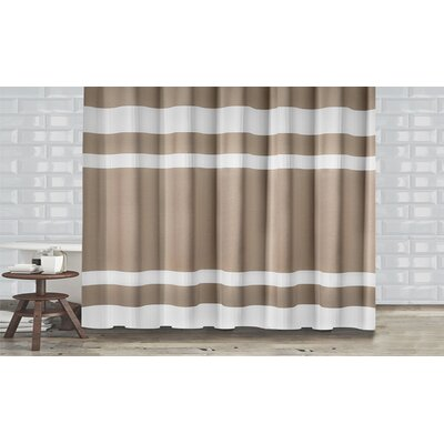 New England Shower Curtain Color: Taupe
