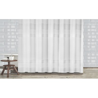New England Shower Curtain Color: White