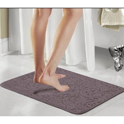 Scroll 2 Piece Bath Rug Set Color: Charcol Gray