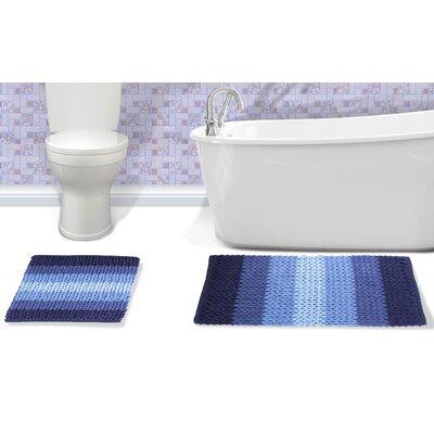 Ottawa 2 Piece Bath Rug Set Color: Blue