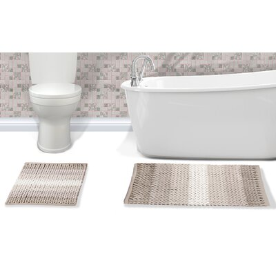 Ottawa 2 Piece Bath Rug Set Color: Pink