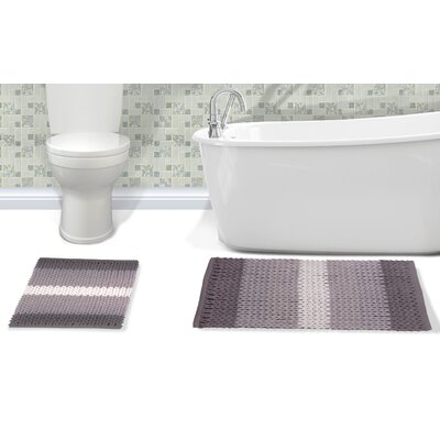 Ottawa 2 Piece Bath Rug Set Color: Gray