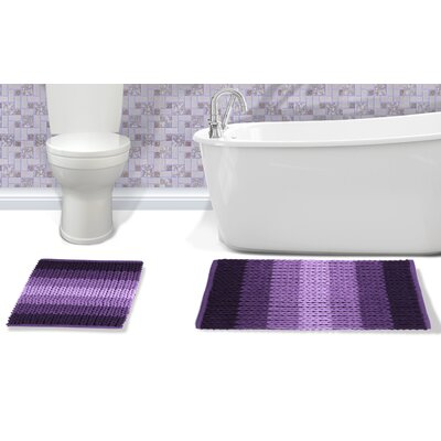 Ottawa 2 Piece Bath Rug Set Color: Plum