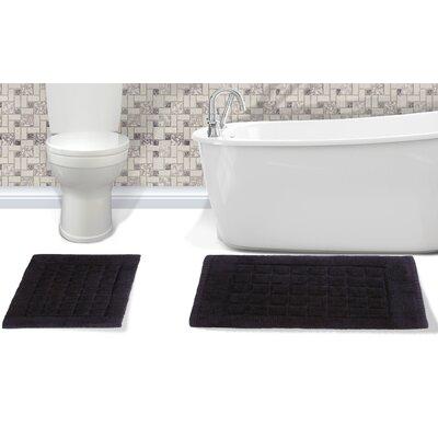 Orlando Cotton Bath Rug Color: Black