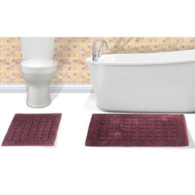 Orlando Cotton Bath Rug Color: Chocolate