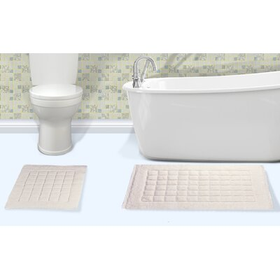 Orlando Cotton Bath Rug Color: Ivory