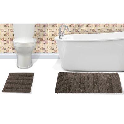 Alliance Cotton Bath Rug Color: Grey