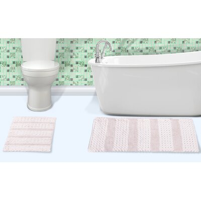 Alliance Cotton Bath Rug Color: White