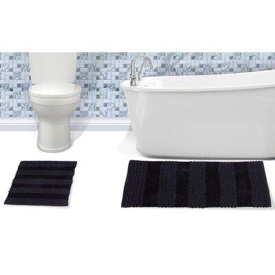 Alliance Cotton Bath Rug Color: Black