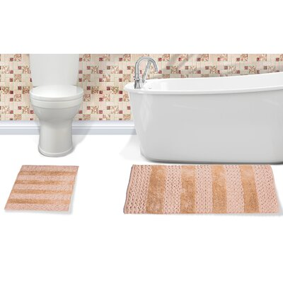 Alliance Cotton Bath Rug Color: Beige