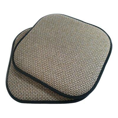 Tobago Dining Chair Cushion Fabric: Black