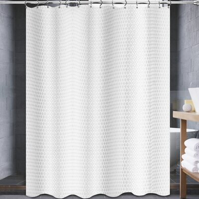 Johnna Shower Curtain Color: White
