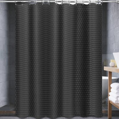 Johnna Shower Curtain Color: Black