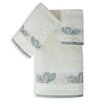 Shell Rummel Butterfly 3 Piece Towel Set Color: Ivory