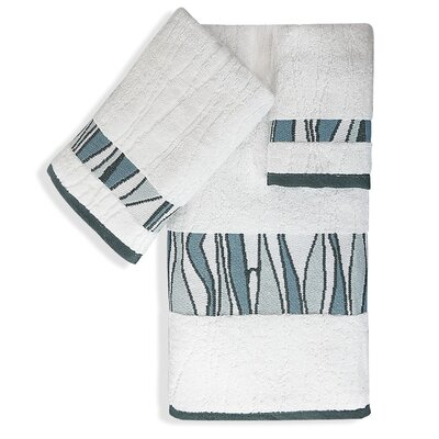 Shell Rummel Tidelines 3 Piece Towel Set Color: White