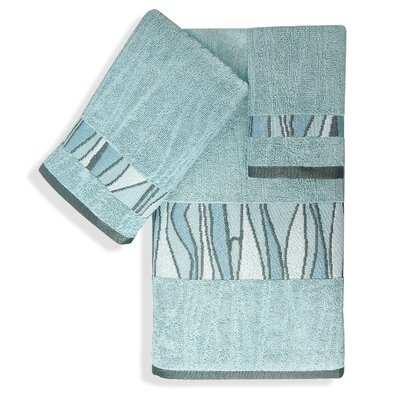 Shell Rummel Tidelines 3 Piece Towel Set Color: Blue