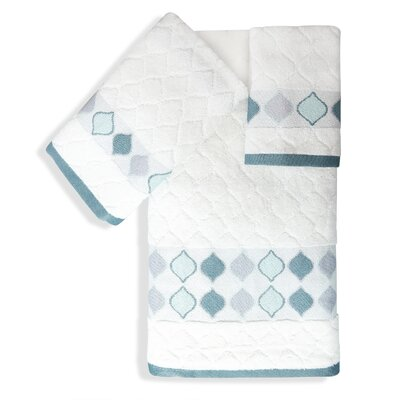 Shell Rummel Sea Glass 3 Piece Towel Set Color: White