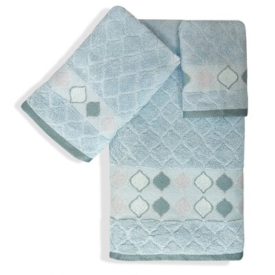 Shell Rummel Sea Glass 3 Piece Towel Set Color: Slate Blue